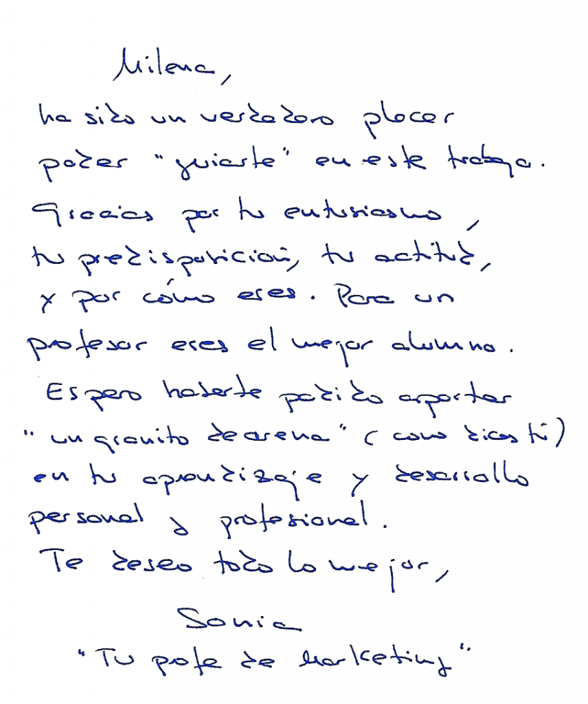 Dedicatoria Sonia Carcelén